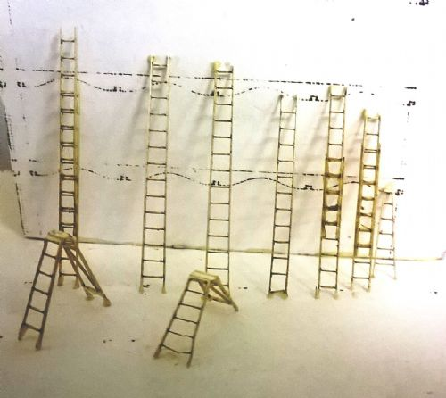 Arch Laser N099  N Scale laser cut Assorted Ladders & Decorators Steps